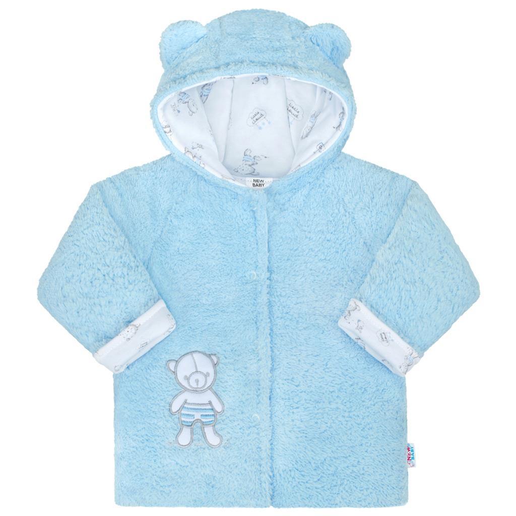 Zimný kabátik New Baby Nice Bear modrý