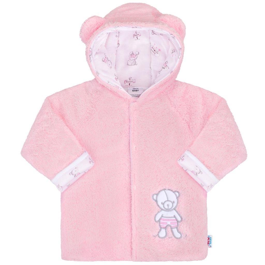 Zimný kabátik New Baby Nice Bear ružový