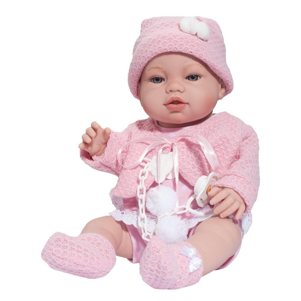 Luxusná detská bábika-bábätko Berbesa Nela 43cm