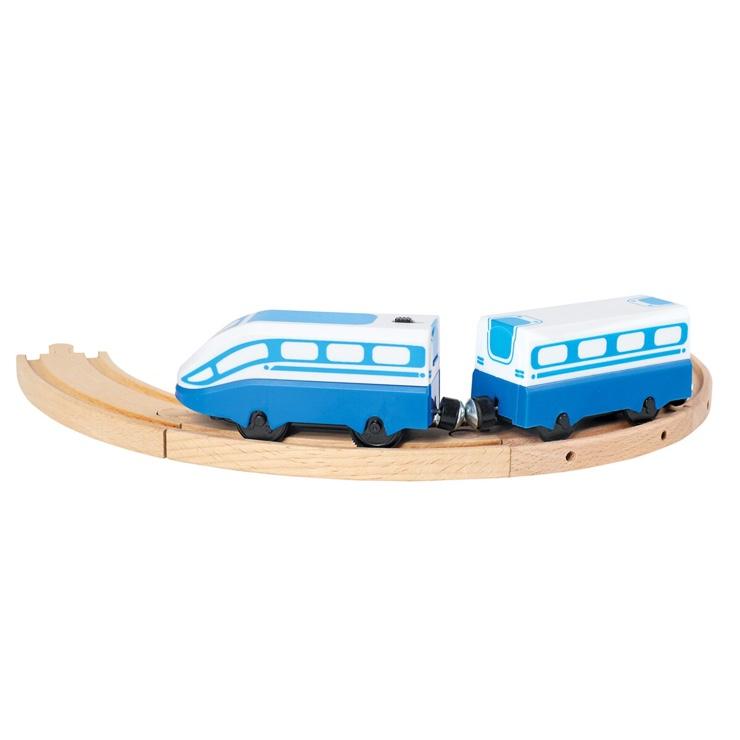 Vysokorýchlostný vlak modrý