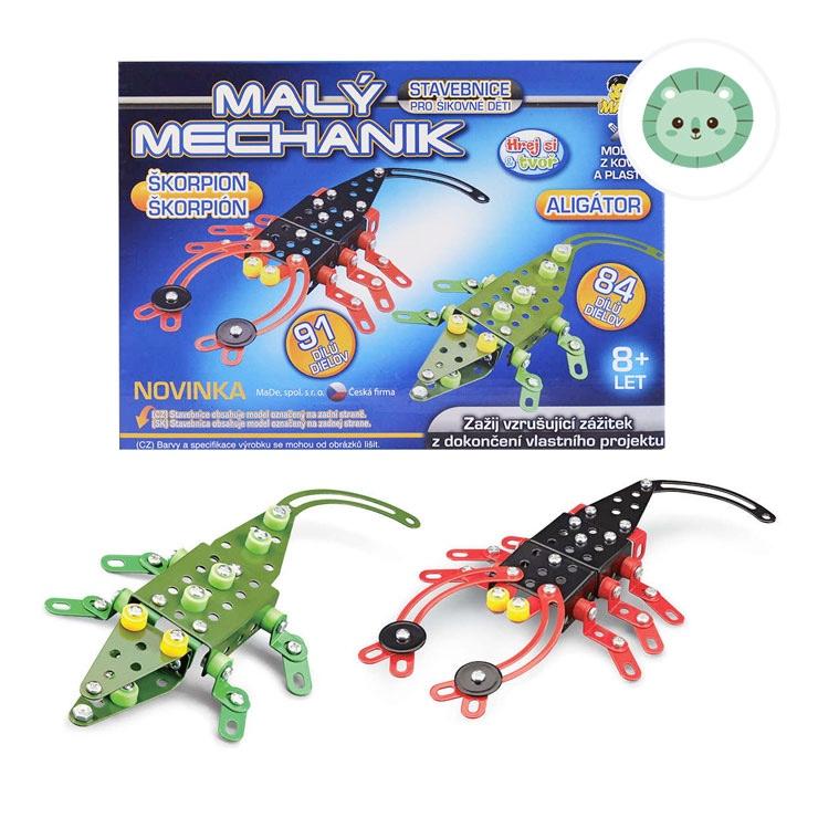 Malý mechanik - škorpión/aligátor
