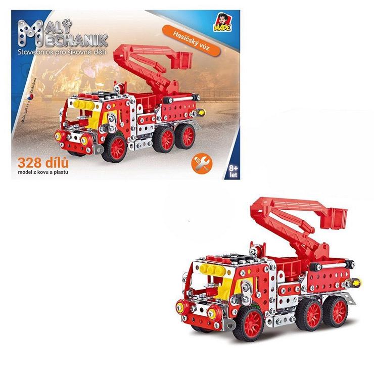 Malý mechanik -  hasičské auto s plošinou