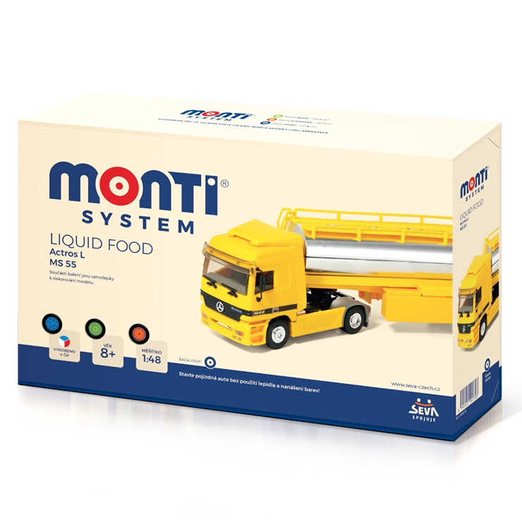 Stavebnica Monti System MS 55 Liquid Food Actros L-MB 1:48