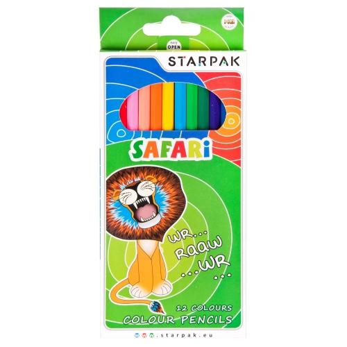 Farebné pastelky Safari 12ks