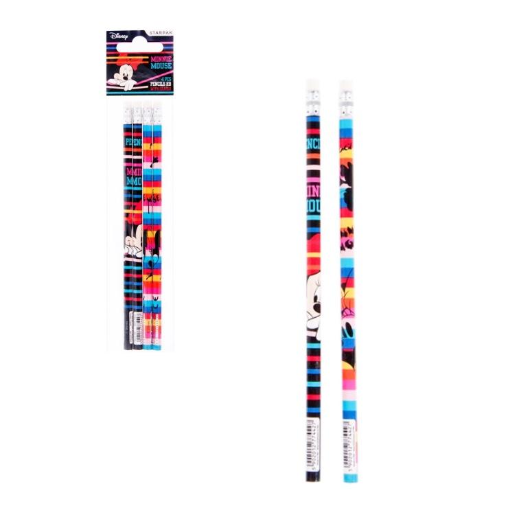Ceruzky s gumou Minnie 4ks