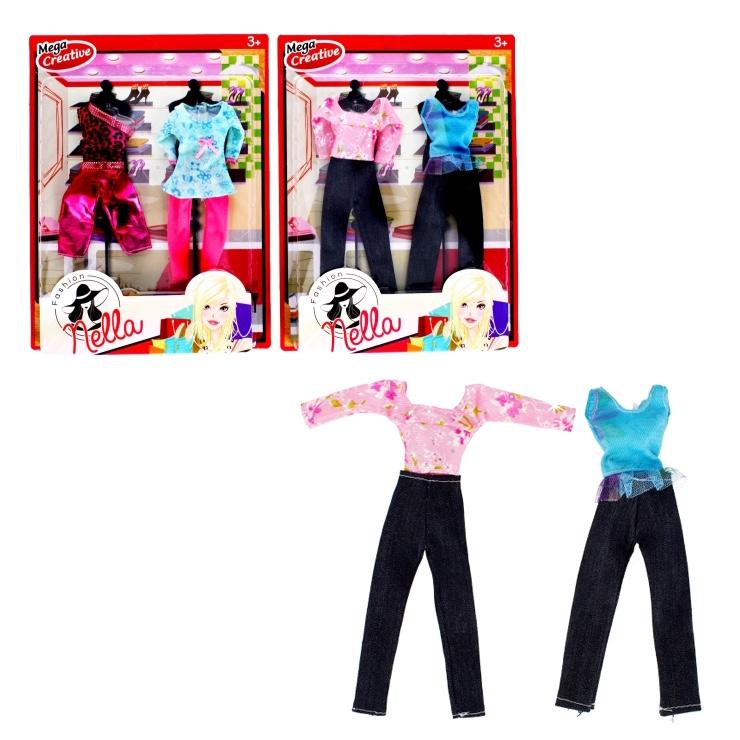 Oblečenie pre bábiky - top, nohavice