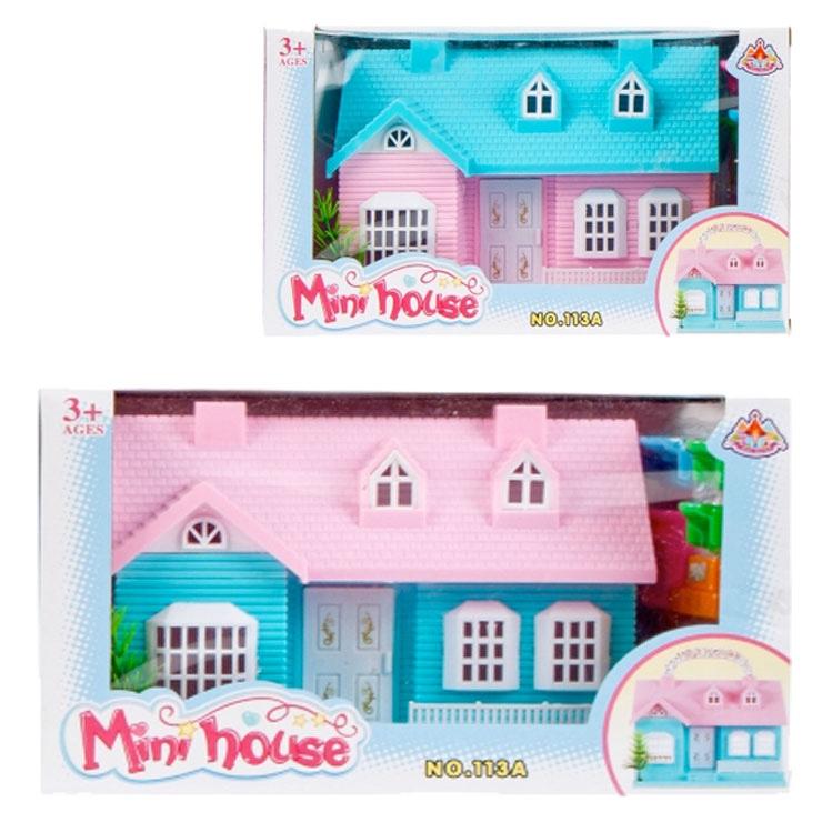 Mini dom pre bábiky - Set