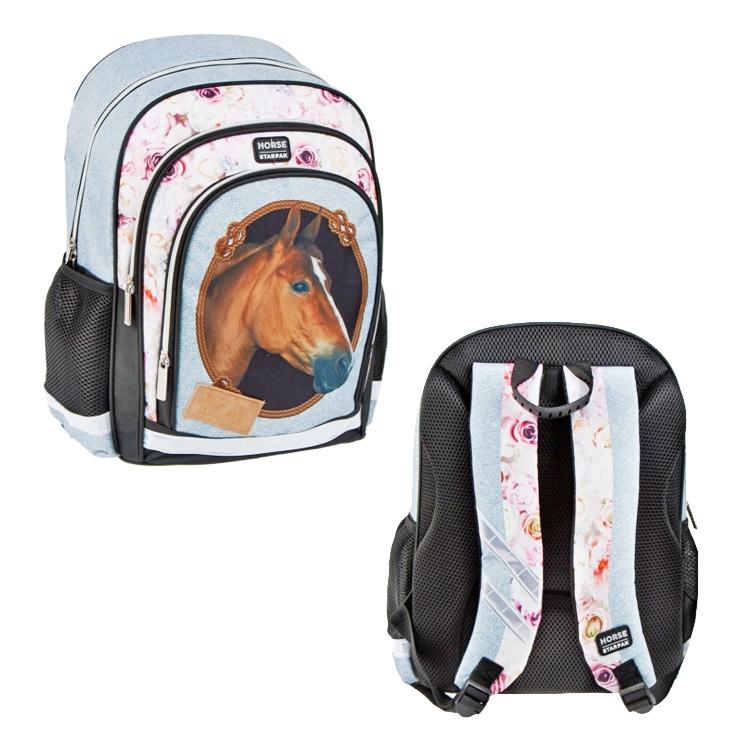 Školský batoh - kone