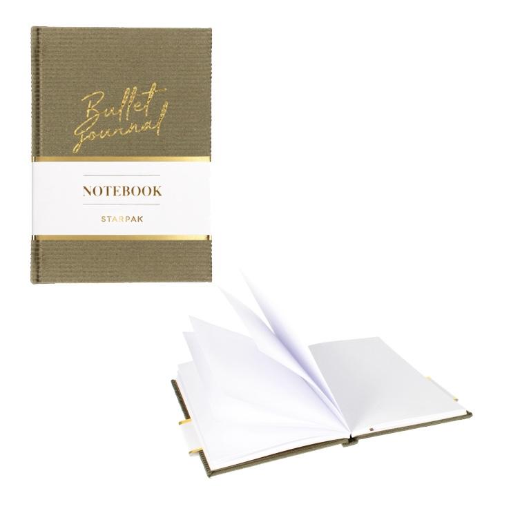 Elegantný zápisník - olivový
