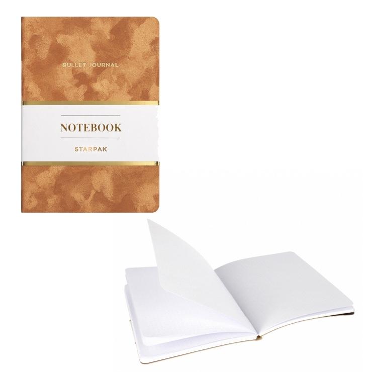 Elegantný zápisník - karamel
