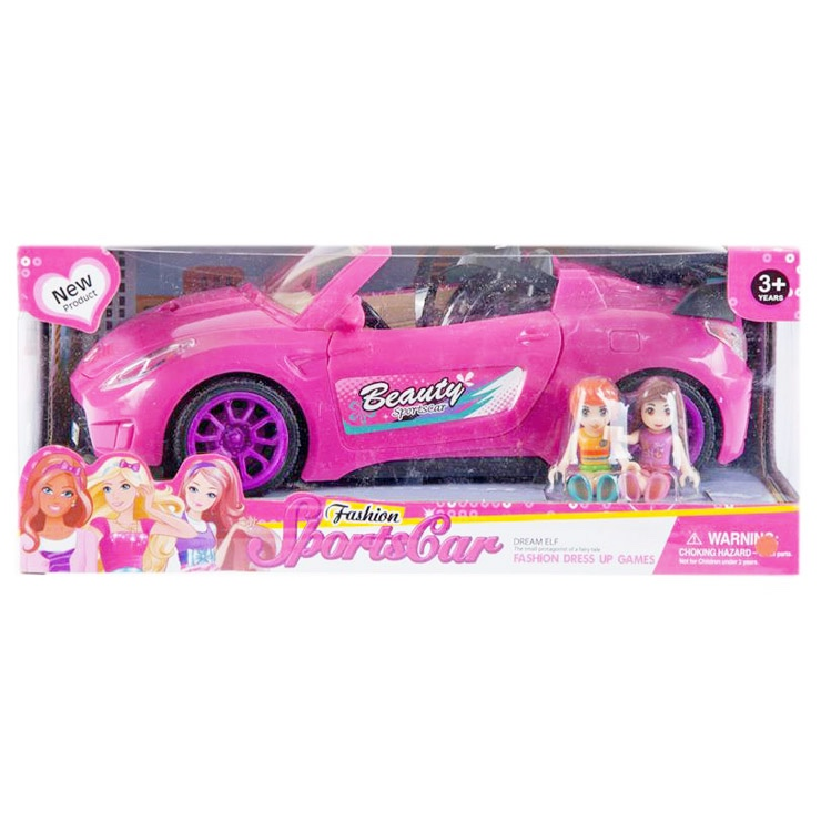 Auto pre bábiky ružové