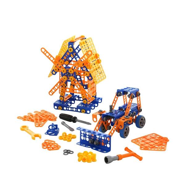 Stavebnica Malý Inžinier 330 traktor a mlyn